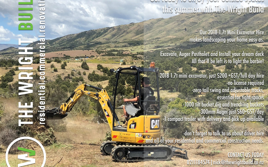 QUEENSTOWN DIGGER HIRE with THE WRIGHT BUILD